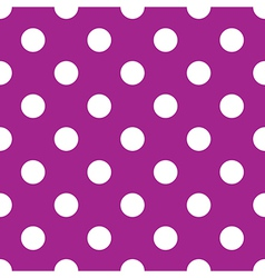 Seamless purple polka dot vector
