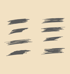 Set of grunge artistic brush strokes vector