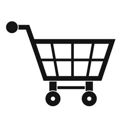 Shopping cart icon simple style vector