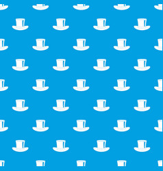 silk hat pattern seamless blue vector image