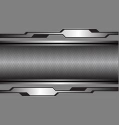silver grey glossy metallic cyber black hexagon vector image