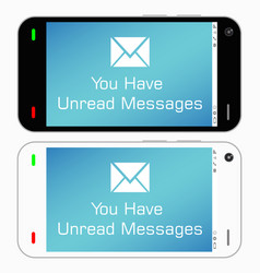 smartphone with unread messages vector image