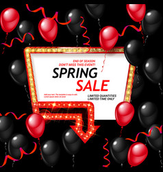 Spring sale background vector
