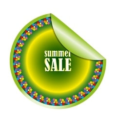 Summer sale label or sticker vector