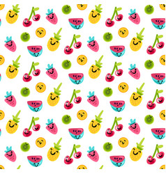 tasty and sweet summer fruits art pattern vector image