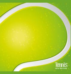 tennis sport game vector image