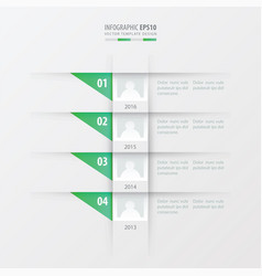 Timeline design template green gradient color vector