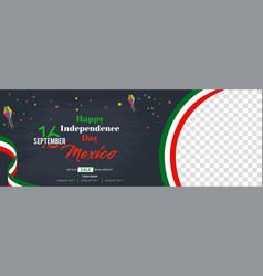 Viva mexico happy independence day social media vector