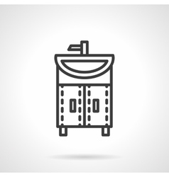 Washstand black line design icon vector image