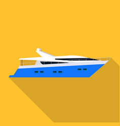 yacht ship icon flat style vector image