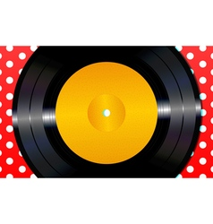 Background with a vinyl disc vector