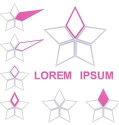 Geometric Star Logo Set vector image vector image