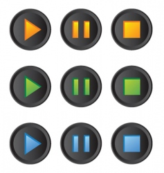 music player buttons set vector image