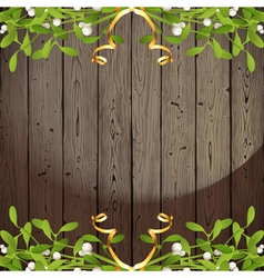 wooden back with omela vector image vector image