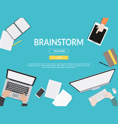 brainstorm graphic for business concept vector image vector image