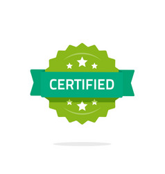 certified stamp or seal sign isolated on vector image