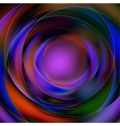 Colorful abstract circular background vector image