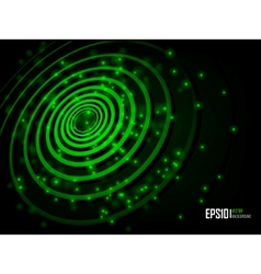 green abstract glowing background vector image vector image