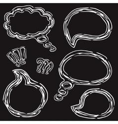 Hand Drawn Speech Bubbles Set vector image