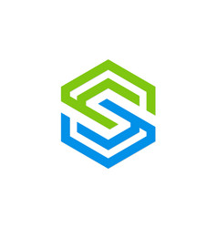 letter s geometry company logo vector image vector image