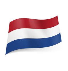 national flag of netherlands red white and blue vector image