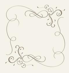 vintage flourish decorative frame with art vector image
