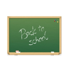 green chalkboard Back to school vector image vector image