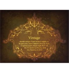 grunge gold floral frame vector image vector image