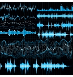 Sound waves set Music background EPS 10 vector image vector image
