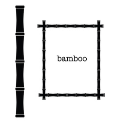 bamboo frame black color art vector image