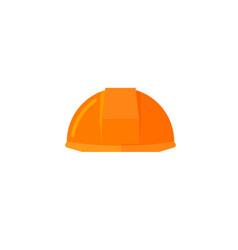 helmet construction icon flat vector image vector image