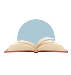 Opened book on blue background vector image