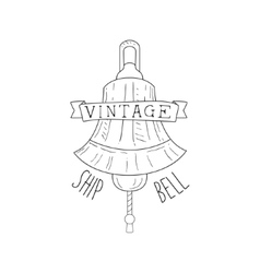 Ships Bell Vintage Sea And Nautical Symbol Hand vector image vector image