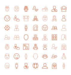 49 avatar icons vector