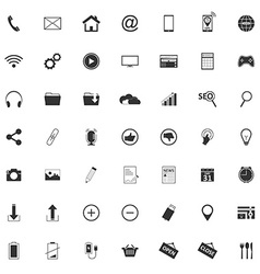49 Different web icons pictogram vector image