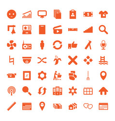 49 web icons vector image