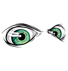 a creature animal eyes design vector image