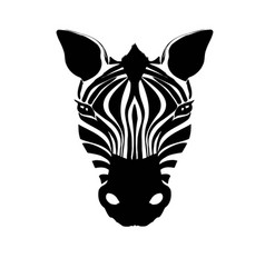 abstract zebra head on a white background vector image