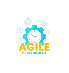 Agile software development process icon vector