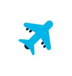 Aircraft icon colored symbol premium quality vector
