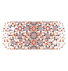 Arabesque wallpaper border mosaic seamless vector