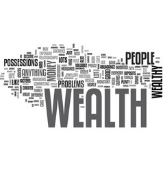 Attract the wealth you deserve text word cloud vector