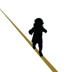 baby walking a tightrope vector image