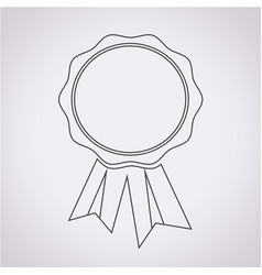 badge ribbons icon vector image
