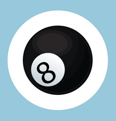 billiard ball black eight icon vector image