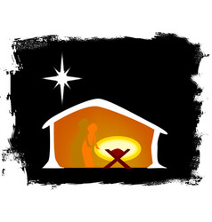 born in a manger vector image