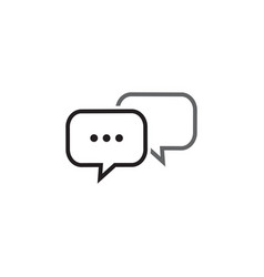 Bubble chat outline icon template vector