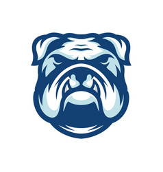 bulldog logo template vector image