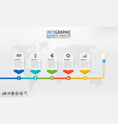 business template infographic for presentation vector image