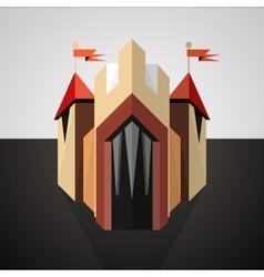 Cartoon castle drawn in perspective Icon vector image
